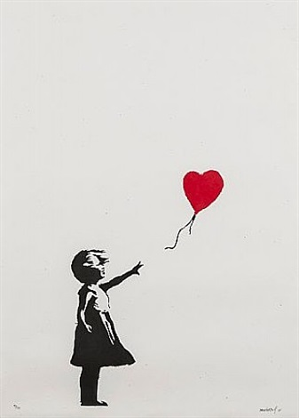 girl with the red balloon by banksy