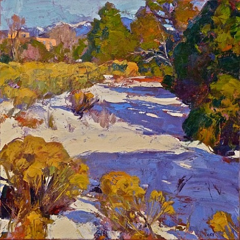 december santa fe by gregory frank harris