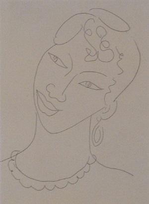 portrait of a martinican woman / la martiniquaise by henri matisse