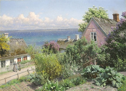 sommertag in aalsgaarde, dänemark by peder mork monsted