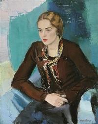 porträt einer jungen dame (betty h.) by sergius pauser