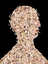 arcimboldo series: portrait bust martin by franticek klossner