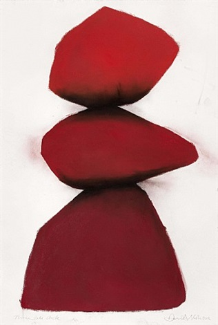 three reds stack by david nash