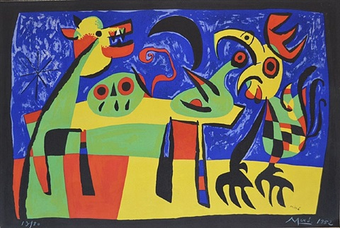the dog barking at the moon / le chien aboyant a la lune by joan miró