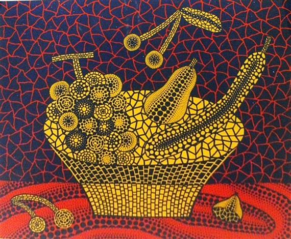 fruit basket by yayoi kusama