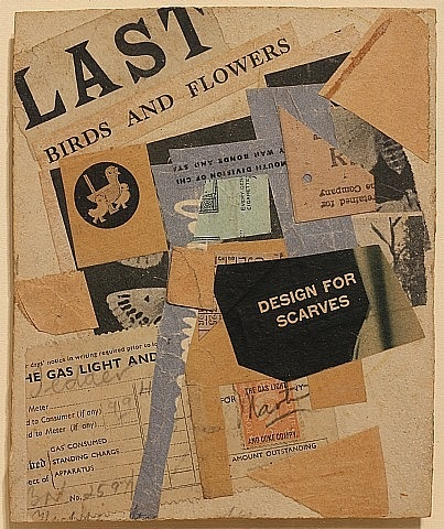 last birds and flowers by kurt schwitters