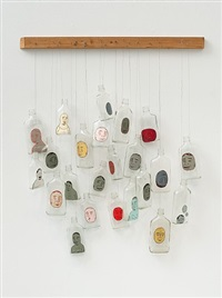 untitled (23 bottles) by barry mcgee