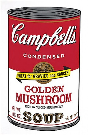 soup can ii (golden mushroom) by andy warhol