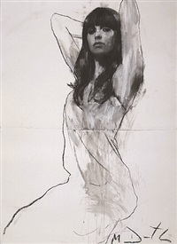 natalie seated with both arms raised by mark demsteader