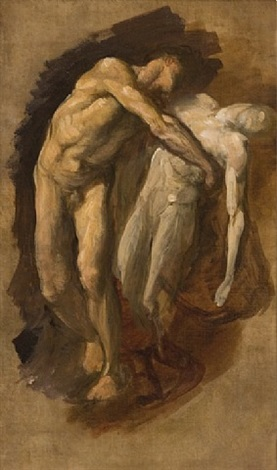 study for orpheus and eurydice by george frederick watts
