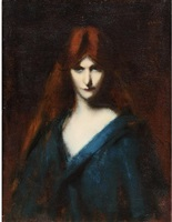 head of a woman by jean jacques henner