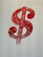 $ sign by andy warhol