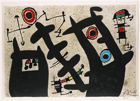 le lezard aux plumes d'or: one plate (mourlot 794) by joan miró