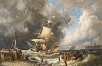 the storm by pieter cornelis dommersen