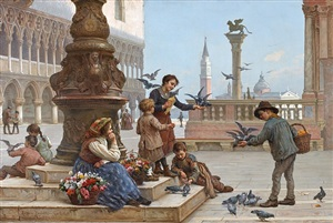 feeding the pigeons by antonio ermolao paoletti