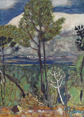 pine trees, seaside by pierre bonnard