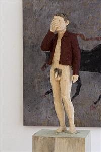 installation view galerie rüdiger schöttle 2013 by stephan balkenhol