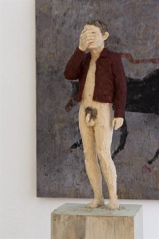accident (relief und halbnackter mann) by stephan balkenhol
