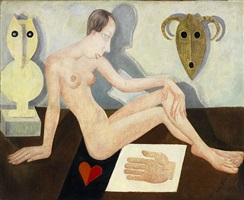 nude with two masks by marie vassilieff