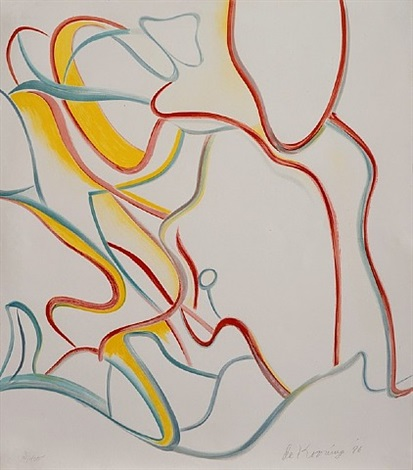 quatre lithographie: one plate by willem de kooning