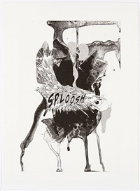 sploosh (black and white) by christian marclay