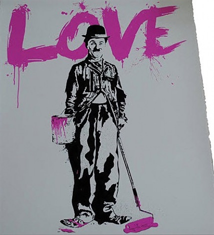 chaplin love by mr. brainwash