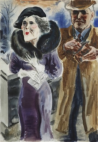 new york couple by george grosz