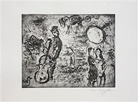 le violoncelliste du village by marc chagall
