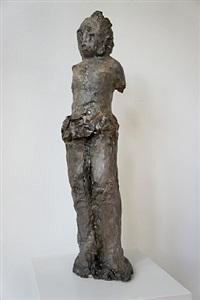 grey figure by leiko ikemura