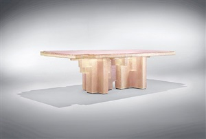 resin fossil table 02 by studio nucleo