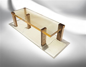 wood fossil table 01 by studio nucleo