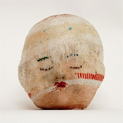 white head (with red line) by sherry markovitz