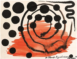 composition with spiral by alexander calder