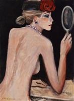 nu au miroir by jean-pierre cassigneul
