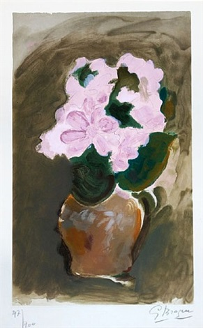 les fleurs violets (purple flowers) by georges braque