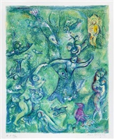 plate nine from four tales from the arabian nights by marc chagall