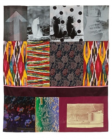 samarkand stitches #5, (from the samarkand stitches series) by robert rauschenberg