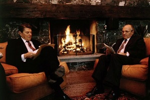 "reagan-gorbachev ""fireside summit"", geneva, switzerland by david hume kennerly"