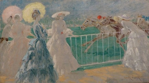 at the horse races by louis icart