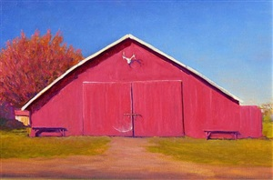autumn barn by william berra