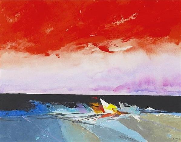 evening beachscape by donald hamilton fraser