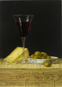 chateau margaux and olives by roy hodrien