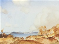 the little cumbrae from glenn sannox, arran by william russell flint