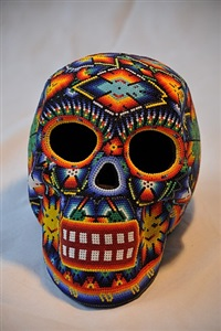 skull nr. 6 by tribe of the huichol