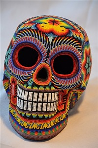 skull nr. 17 by tribe of the huichol