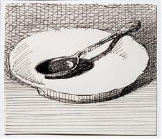 dish and spoon by wayne thiebaud