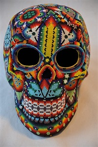 skull nr. 31 by tribe of the huichol