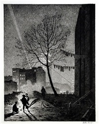 tree, manhattan by martin lewis
