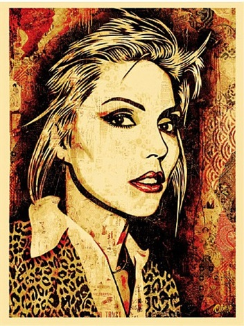 blondie (canvas print) by shepard fairey