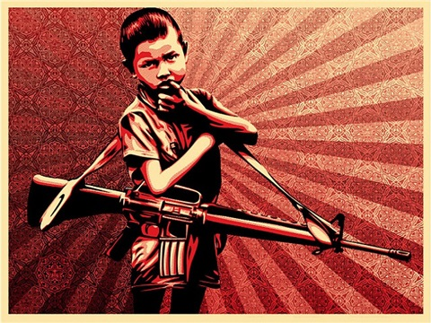 doh #5 (duality of humanity) by shepard fairey